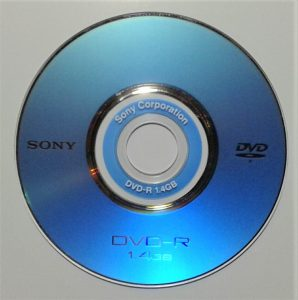 Mini DVD 1.4 GB single sided.