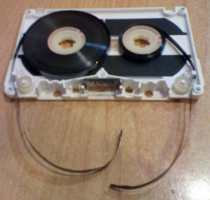 snapped audio tape