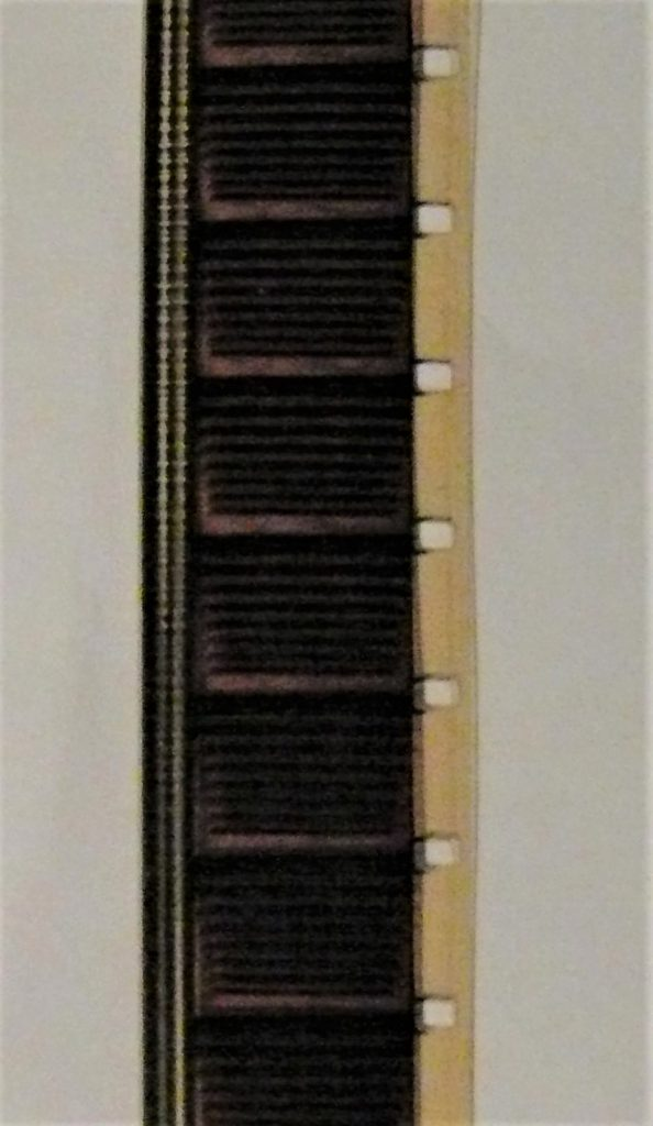 16mm Film Strip single perf with optical audio track