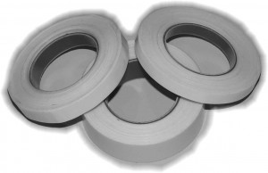 White splicing tapes in various sizes for VHS, 8mm and DV tape