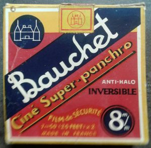Bauchet 8mm film in original packaging front view