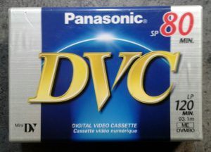 Panasonic DVC80 mini dv video cassette in original packaging