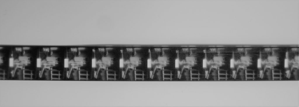 9.5mm film from a Pathescope film reel